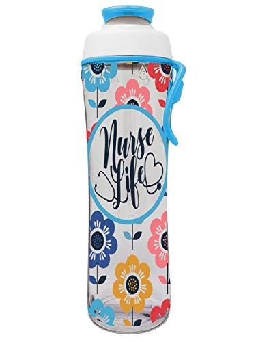 50 Strong Nurse Water Bottle - BPA Free 24 oz. w/Carry Loop & Chug Cap - Great Gift for Nurses, RN, or Nursing Graduation for Birthday, Thank You, Christmas or Graduate (Nurse Life, 30 oz.)