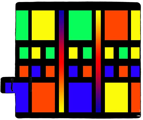 Wsjjshg Rueda Anual Colorida Manta de Picnic Manta de Picnic al Aire Libre Impermeable con Aislamiento Manta de Playa SuaveyTérmica Manta de Picnic Grande con Asa de Transporte Color2 M:150x200cm