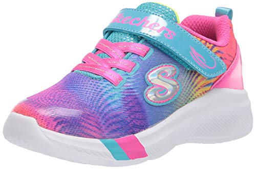 Skechers Kids Girls' Dreamy Lites-Sunny Sprints Sneaker, Multi, 6 Medium US Toddler
