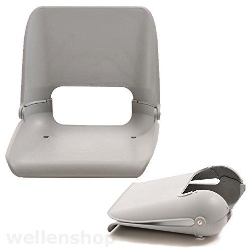 Nautika Bootssitz Kunststoff grau Sitzschale klappbar wetterfest außen für Boote Bootsstuhl Sitz Stuhl Boot Angelboot