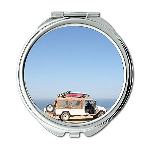 Yanteng Spiegel, Reise-Spiegel, Auto Strandauto, Taschenspiegel, tragbarer Spiegel