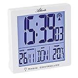 Atlanta Despertador digital con 2 alarmas y luz y repetición de temperatura, 1891/0