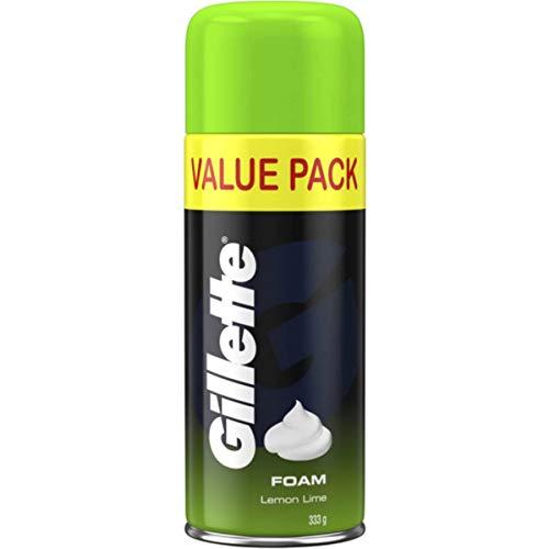Gillette Shave Foam Lemon Lime Value Pack 333g,