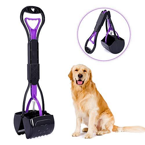 Tragbarer Hundekotschaufel für Hunde und Katzen, faltbarer Hundekotschaufel für Gras mit langem Griff, hochfestes Material und professionelles, ergonomisches Design, faltbarer Hundekotabfall.