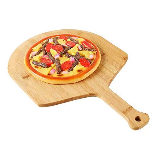 Pala de Madera para Pizza de 12 Pulgadas y 15 Pulgadas, Paleta de bambú para Pizza, Levantador de Tablas para Servir cáscara de Pizza con Mango para Horno, Parrilla, Equipo para Hornear, 58.
