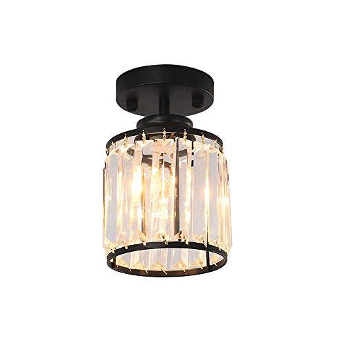 Apliques Pared Luz moderna minimalista del hierro del metal cristalino transparente pantalla de cristal de la lámpara de techo de estar cubierta dormitorio luz del pasillo la luz del pasillo luz de la