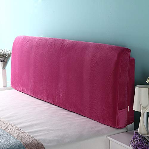 NMDCDH Kopfteil Nachttisch Kissen Polster Soft Case Cloth Art Nachttisch Kissen Waschbar, 4 Farben, 5 Größen (Farbe: 2#, Größe: Mit Kopfteil-200cm)