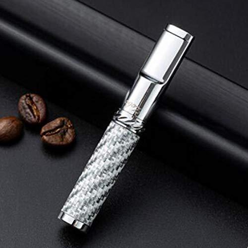 MKXULO Support de Cigarette, filtre de Cigarette Tabac Fumer Fumer réduire titulaire de nettoyage de Filtration de Goudron,Silber
