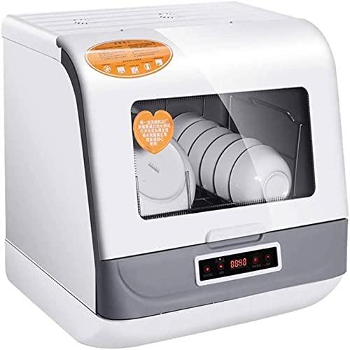 DJDLLZY Compacta Encimera Lavavajillas Lavavajillas portátil de Alta Temperatura de desinfección vajilla Lavavajillas, no es Necesario Instalar, 360 ° Lavado, Consumo de Agua: 5 litros