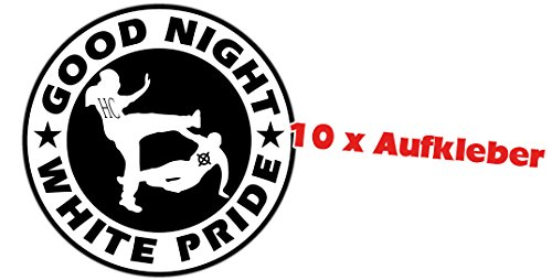 Racker-n-Roll GOOD NIGHT WHITE PRIDE 10er Pack Aufkleber