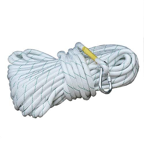 LIZIPYS Cordes Corde de sécurité Lifeline Corde d'évacuation d'urgence Corde à Incendie Kit de Survie en Cas d'incendie de 16 mm de diamètre Longueur 5/10/20/30 / 50m (Taille : 30m)