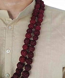 5 Mukhi Rudraksh Mala Natural Colored Maroon TCIRMN7-108 Beads
