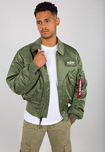Alpha Industries Herren Jacken CWU 45, Einfarbig, Gr. Medium, Grün (sage-green 01)