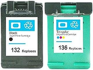 خراطيش حبر متوافقة JJYZD لـ HP132 لجهاز HP 132 136 فوتوسمارت 2573 C3183 D5163 Officejet 6213 5443 D4163 PSC 1513 1513s