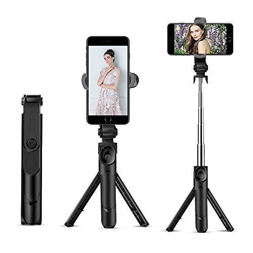 Selfie Bastone Bingolar Cellulare Supporti Treppiedi Pinza Regolabile per Treppiede Bastone Selfie Monopiede,Universale Smartphone Cellulare Supporto 1//4-20 Ruotabile Verticale Staffa,monopiede
