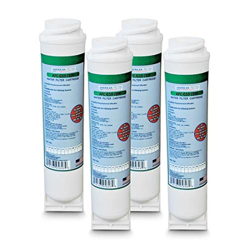 American Filter Company 4-Pack (TM) Brand Water Filters (Comparable with GE (R) FQK2J Filters) Made in The USA!!
