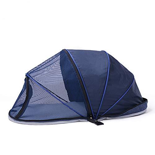 RC GearPro Hond Outdoor Tent Handig Vouwen Outdoor Tent Hond Huis Reizen Strand Camping Tent Bed voor Hond Huis Reizen Strand Camping Tent Bed, Blue [Half net]