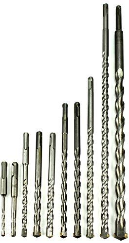 SDS PLUS BOHRER Ø4-30mm Bohrhammer Hammerbohrer für Beton Keramik Stein Länge 110-1000mm (Ø: 8mm x Länge: 600mm)