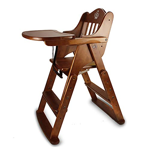 Great Deal! Foldable Children's Dining Chair Solid Wood Seat Multifunction Baby Dinette