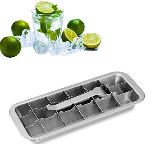 Haudang - Set di 18 cubetti di ghiaccio in acciaio INOX di alta qualità, per cubetti di ghiaccio