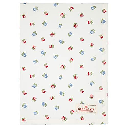GreenGate - Paño de cocina, paño de secado, paño de cocina - Viola - blanco - algodón - 70 x 50 cm