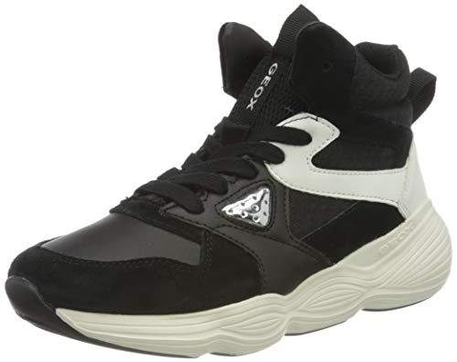 Geox J Bubblex Girl A, Zapatillas Niña, Negro (Black/White), 33 EU