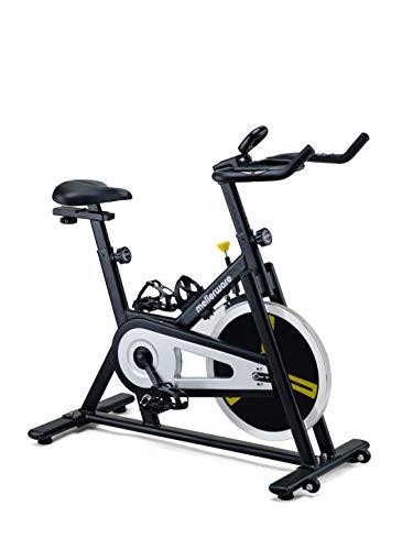 Mellerware - Bicicleta Estatica spinning - Resistencia ajustable con Pantalla LCD y pulsómetro. Sillín y manillar regulables. spinning bike - Disco de Inercia 16 Kg (Track)