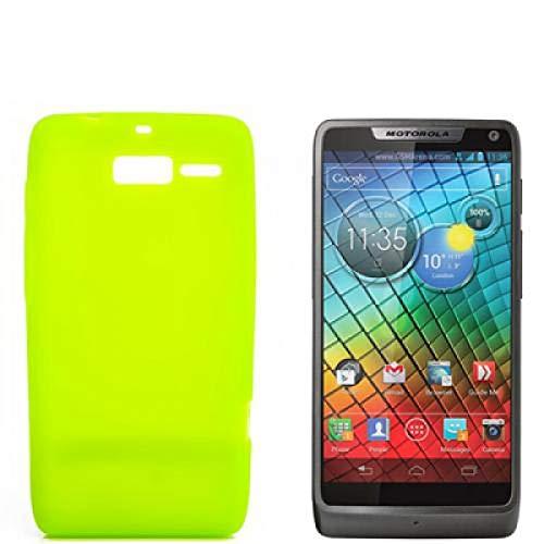 numerva Schutzhülle kompatibel mit Motorola RAZR i Hülle Silikon Handyhülle für Motorola RAZR i (XT890) Case [Grün]