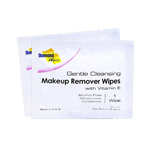 Gentle Makeup Remover Cleansing Face Wipes – Facial Towelettes with Vitamin E for Waterproof Makeup – Individually Sealed Wrappers Bulk Buy Pack of 500