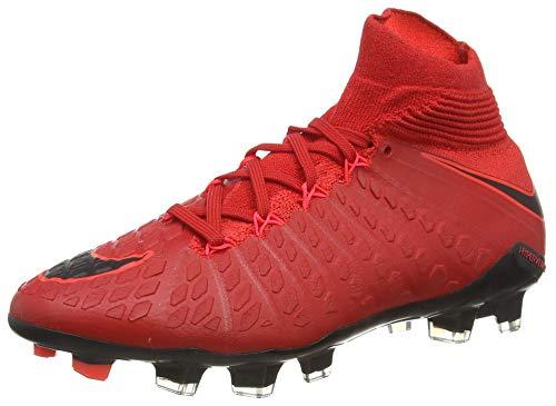 Nike Hypervenom Phantom III DF FG, Scarpe da Calcio Unisex-Bambini, Rosso (Rot Rot), 36.5 EU