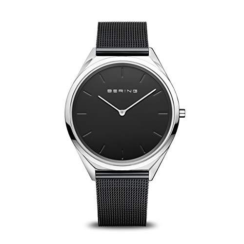 BERING Unisex Analog Quartz Uhr mit Edelstahl Armband 17039-102