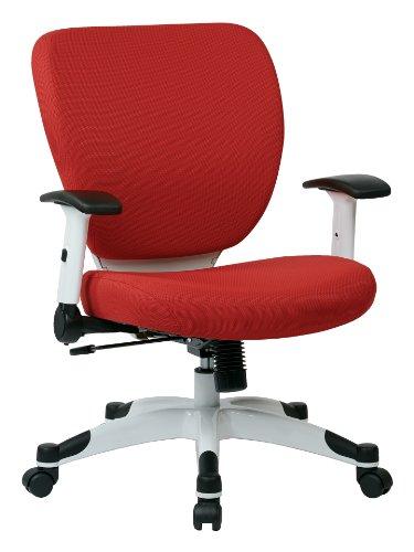 Office Star Products Bürostuhl, Netzgewebe, mit 2-zu-1-Synchro-Kippsteuerung Modern Rouge Red