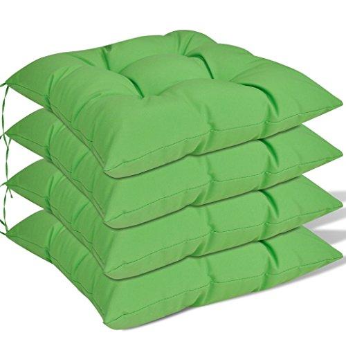 Lot 4 pz Coussin pour fauteuil haut 8 cm Vert