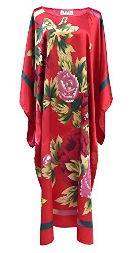 Jurk van binnen Kimono dames - jurk kamerstijl Boubou gesatineerd