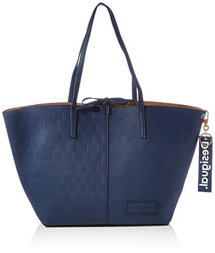 Desigual Accessories PU Shopping Bag, Borsa shoppering Donna, Blu, U