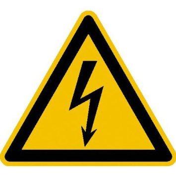 Warnung vor gefährlicher elektrischer Spannung Warnschild, selbstkl. Folie, 20cm