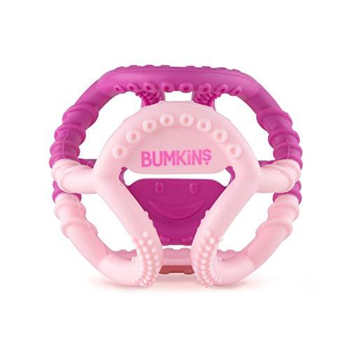 Bumkins Silicone Sensory Teether - Pink