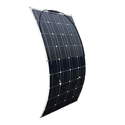 YUANFENGPOWER 100 W 18 V pannello solare flessibile monocristallino in silicone, modulo fotovoltaico per barca, camper, roulotte, batteria da 12 V
