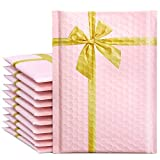 Fuxury/ Fu Global #0 6x10' 25PCs Gift Poly Bubble Mailers, Designer High-Grade Pearlescent Pink Self Seal Mailing Padded Envelopes with Bubble Lined Wrap
