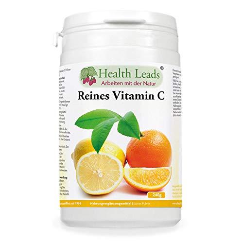 Reines Vitamin C (Ascorbinsäure) 240gr, Trägt zur normalen Funktion des Immunsystems bei, Gesündere Haut und Zähne, Perfekt für leckere Shakes und Smoothies, Vegan, GVO-frei, glutenfrei