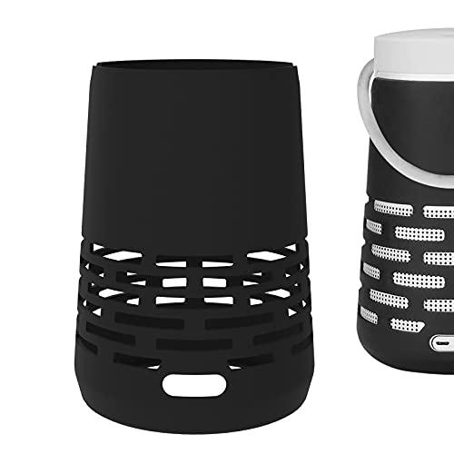 Geekria Funda de silicona para Bose SoundLink Revolve+ Altavoz Bluetooth inalámbrico portátil impermeable, SoundLink Revolve+ Funda de silicona con llavero, funda protectora, portátil ligero (