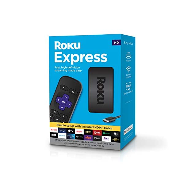 Roku Express   HD Streaming Media Player with High Speed HDMI Cable and Simple Remote