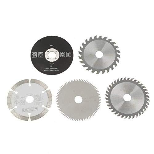 LHQ-HQ Circular Saw Blades Set, 5Pcs 15mm/85mm Circular Cutting Disc Set Carbide Cutting Tool Used On Marble Cutting Machines, Electric Hand Saws, Sliding Table Saws