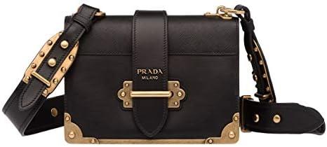 Women s Black Monochrome Leather Shoulder Bag And Identity Handbag Box Bag For Women Black Cahier product image