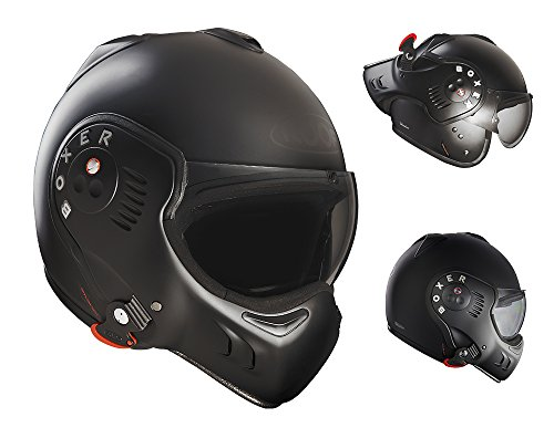 roof Herren BOXV8 Dachhelm Boxer V8 Bond Matt Titan-Black 60-L, Large