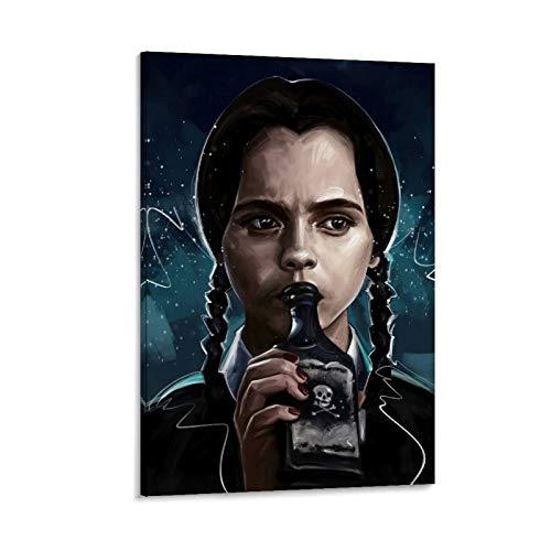 LOPOA Wednesday Addams - Poster decorativo da parete, per soggiorno, camera da letto, 50 x 75 cm