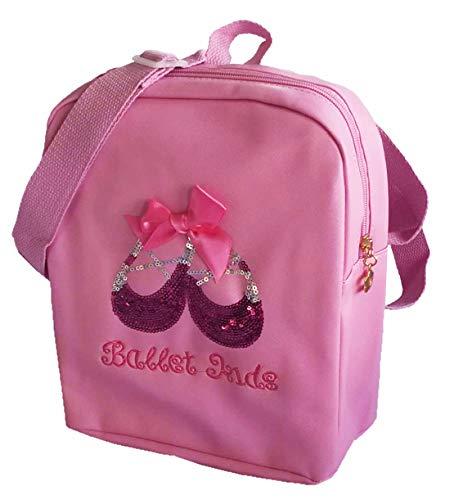 """Ballettrucksack Mädchen \""""Ballet Kids\"""" mit Stickerei und Pailletten in rosa und pink Avideso"""