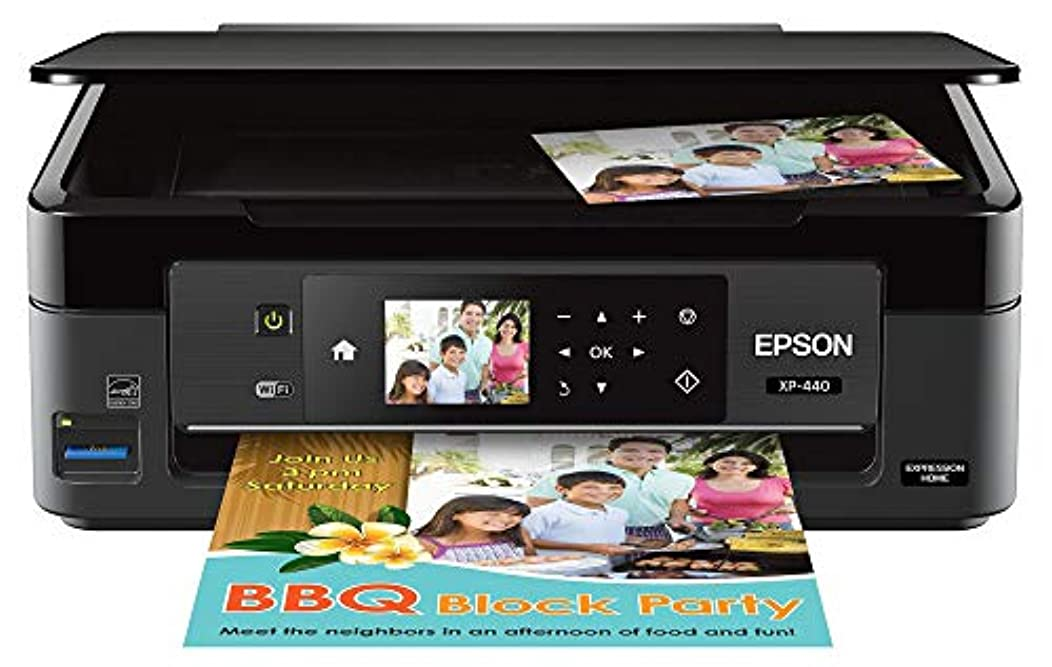 Epson Expression Home XP-440 Wireless Color Photo Printer with Scanner and Copier, Amazon Dash Replenishment Enabled