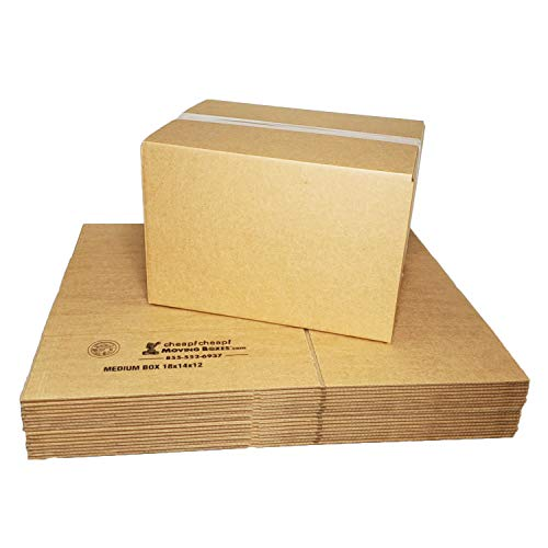 "Medium Moving Boxes (20-Pack) 18""x14""x12"" Cheap Cheap Moving Boxes"