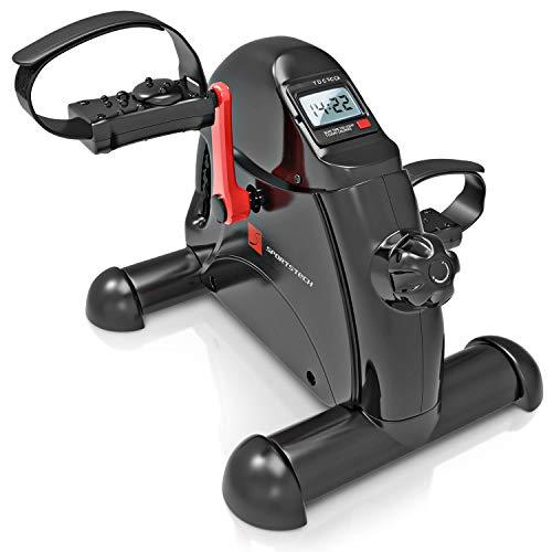 Sportstech Home Trainer, Mini Cyclette + App Fitness | Allenamento Gambe + Braccia per Anziani | attività Fisica a casa e in Ufficio | Pedali Regolabili +Funzione Massaggio |per Uomini e Donne |DFX50